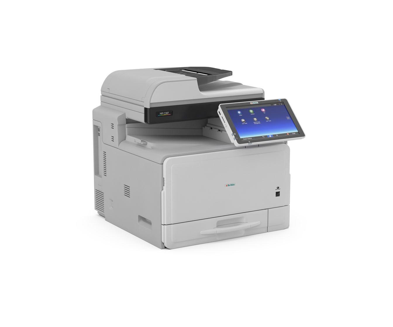 La solución más productiva y rentable con la impresora multifunción a color  MP C307SPF